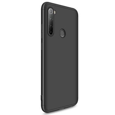 Microsonic Xiaomi Redmi Note 8 Kılıf Double Dip 360 Protective Siyah Siyah